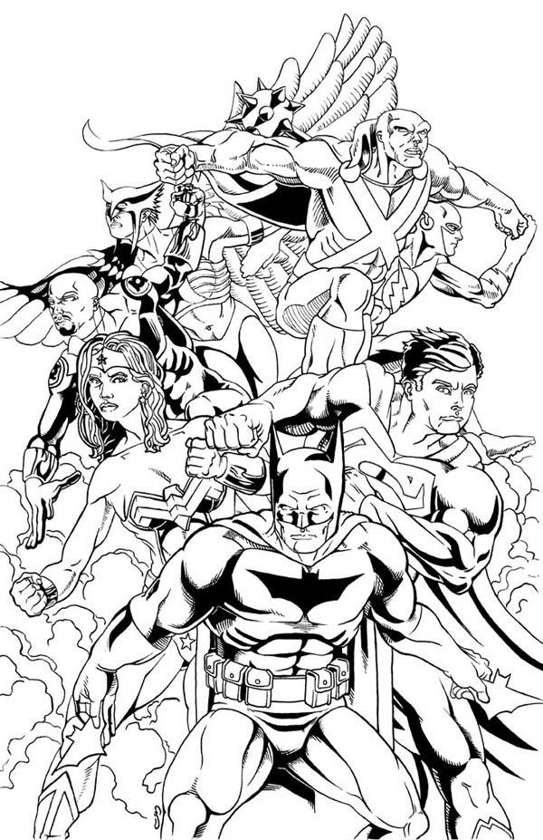 Justice League Coloring Pages All Members