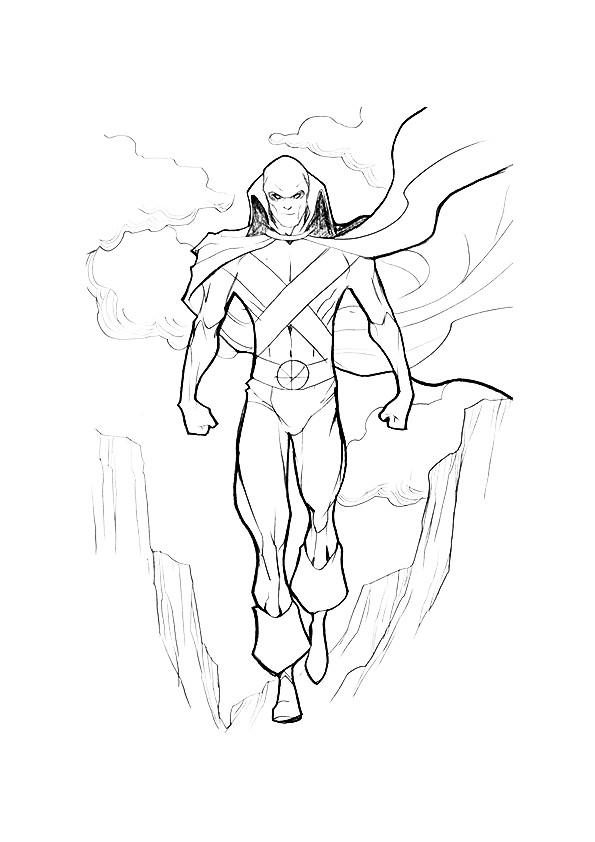 Justice League Coloring Pages Martian Manhunter