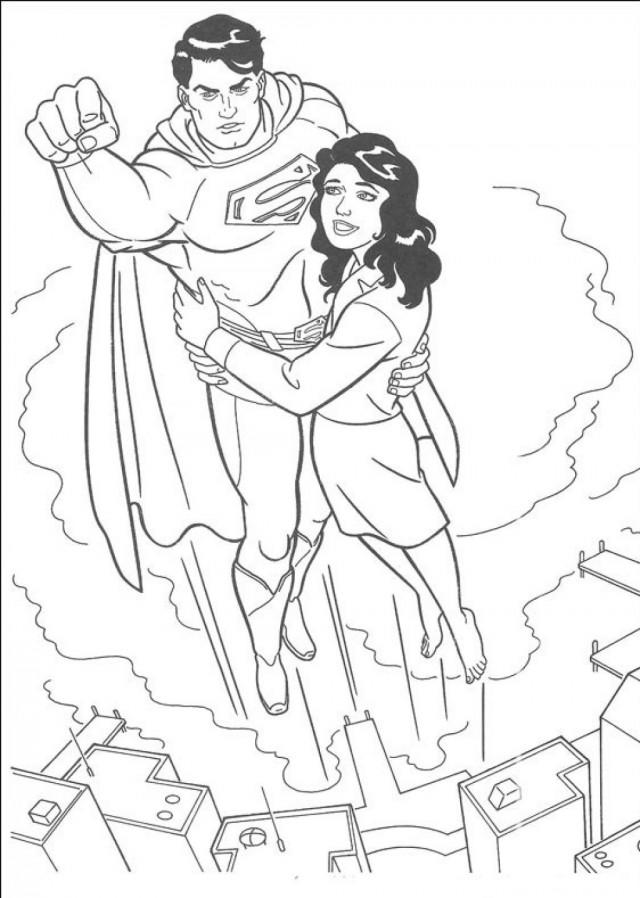 Justice League Coloring Pages Saving People