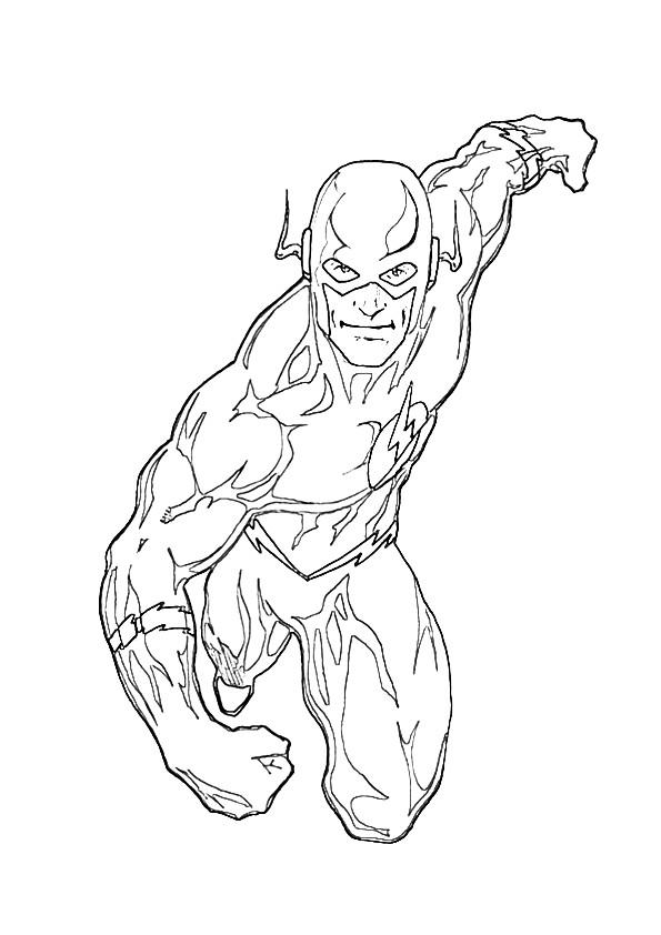 Justice League Coloring Pages The Flash