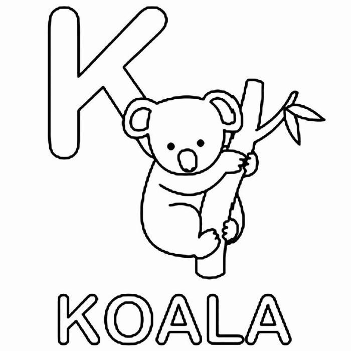 K For Koala Coloring Pages
