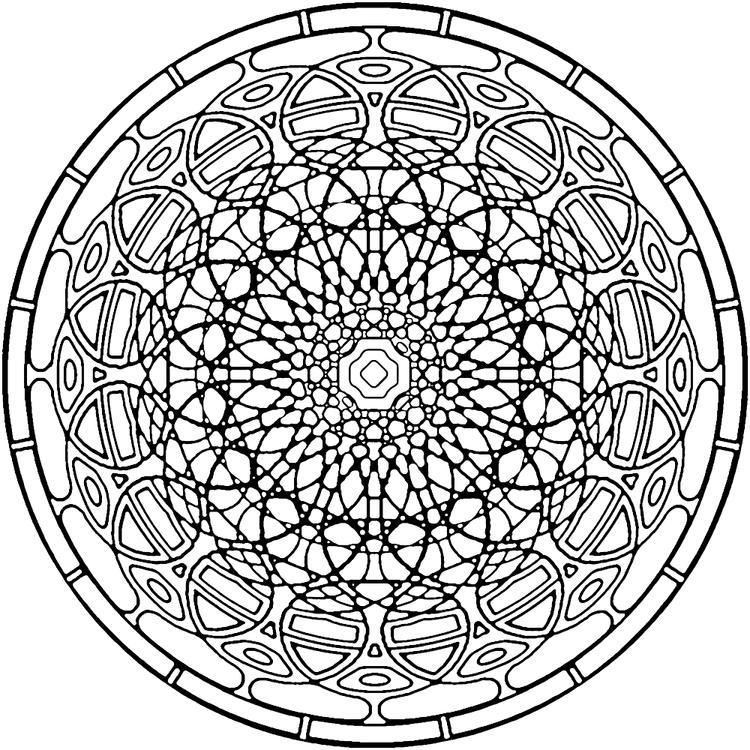Kaleidoscope Coloring Pages Free Printable