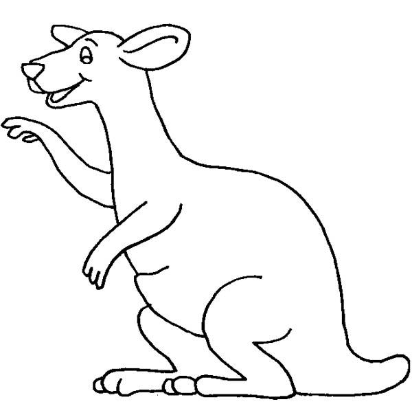 Kangaroo Coloring Pages For Toddler