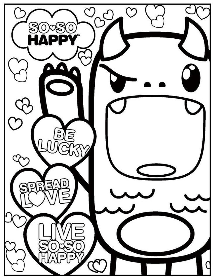 Kawaii Coloring Pages With Spirit