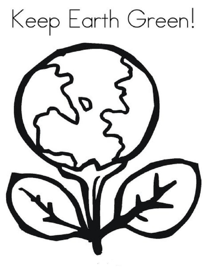 Keep Earth Green Coloring Pages