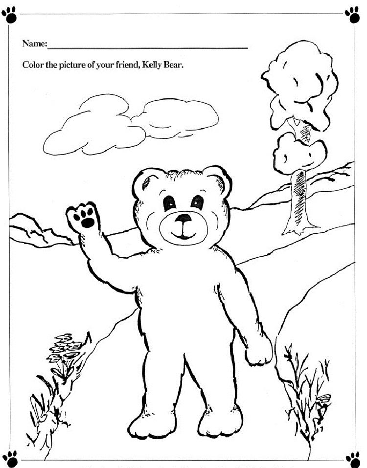 Kelly Bear Coloring Pages