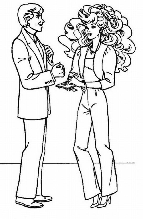 Ken Ask Barbie To Marry Him Coloring Pages