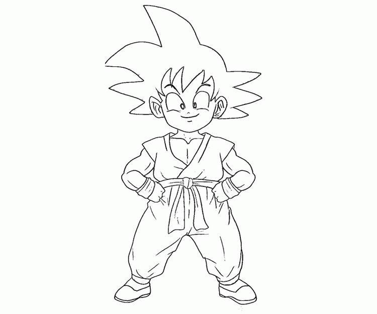 Kid Goku Coloring Pages For Kids