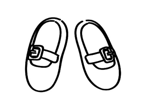 Kid Size Ballerina Shoes Coloring Pages
