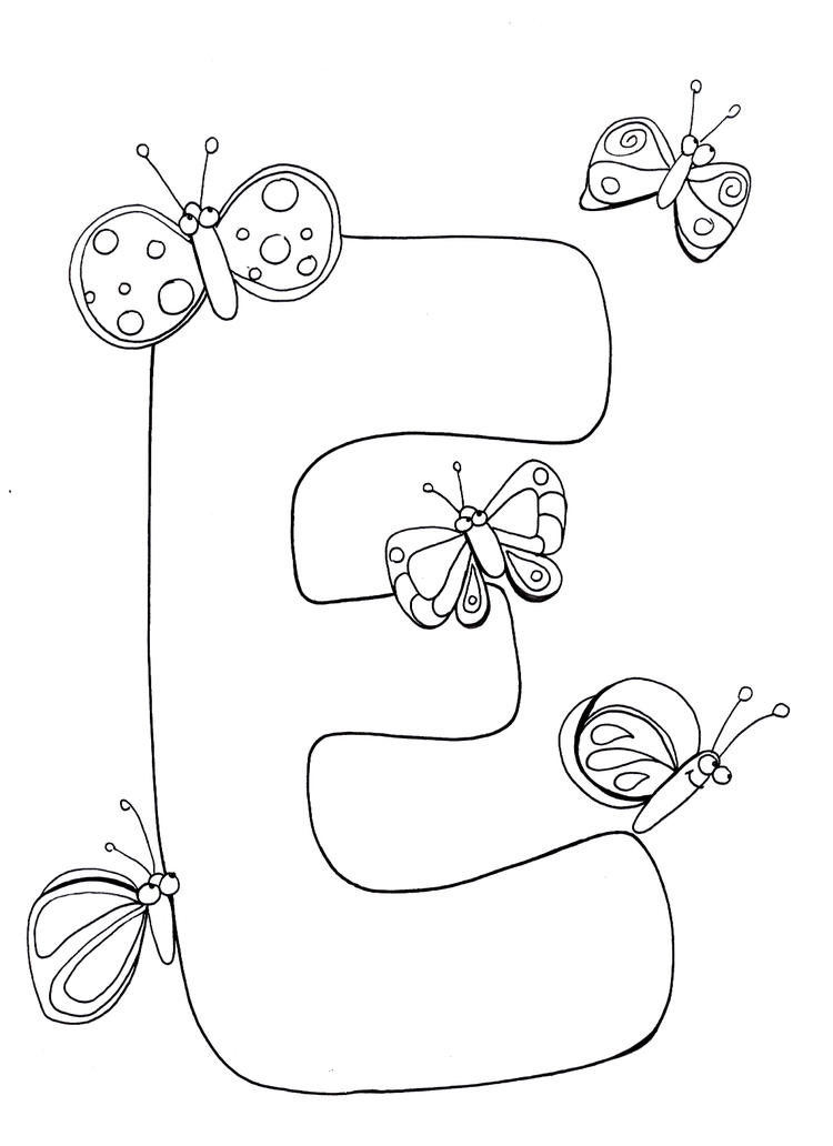Kids Alphabet Coloring Pages Free