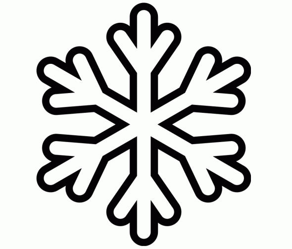 Kids Coloring Pages Winter Snowflake