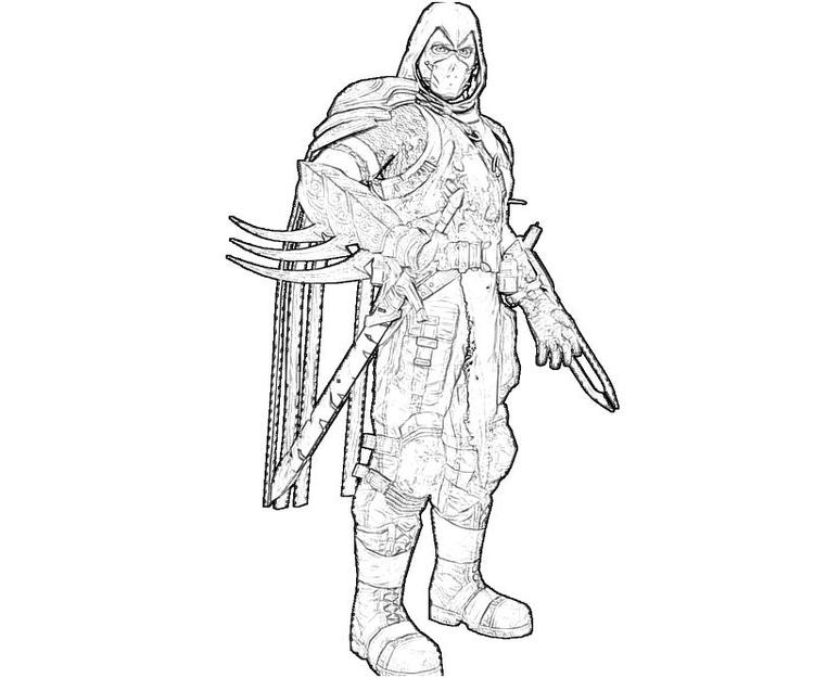 Kids Deathstroke Coloring Pages Arkham Origins