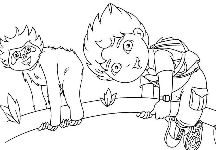 Kids Diego Coloring Pages Free Printable