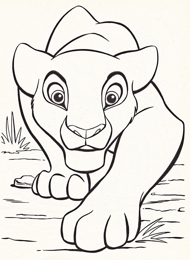 Kids Disney Coloring Pages Lion King Printable