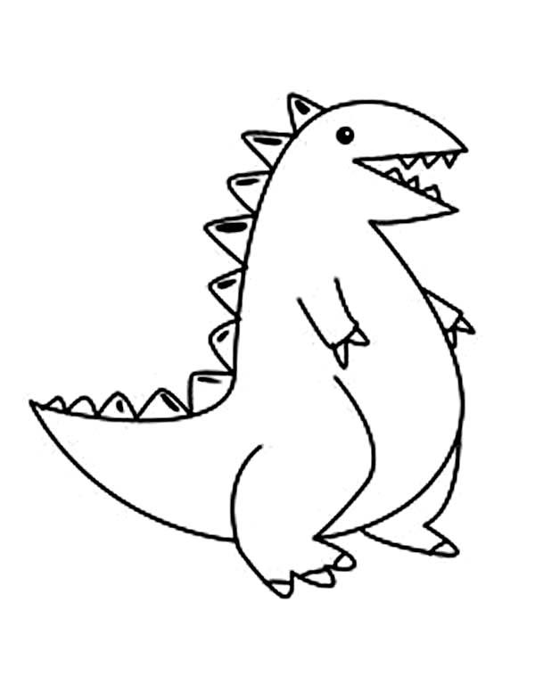 Kids Drawing Baby Dinos Coloring Pages