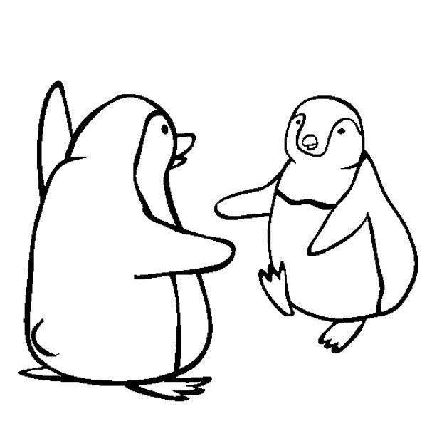 Kids Drawing Happy Feet Coloring Pages
