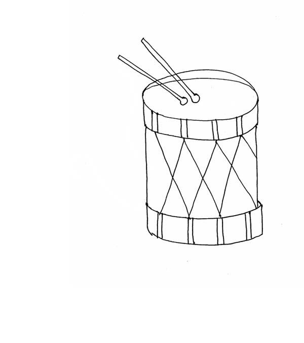 Kids Drawing Musical Instruments Coloring Pages