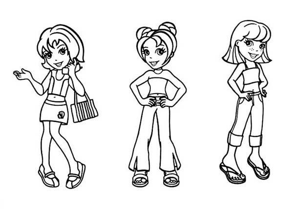Kids Drawing Polly Pocket Coloring Pages