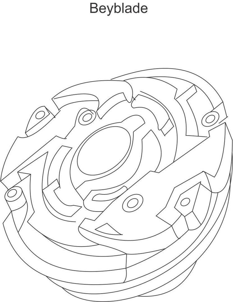 Kids Free Beyblade Coloring Pages