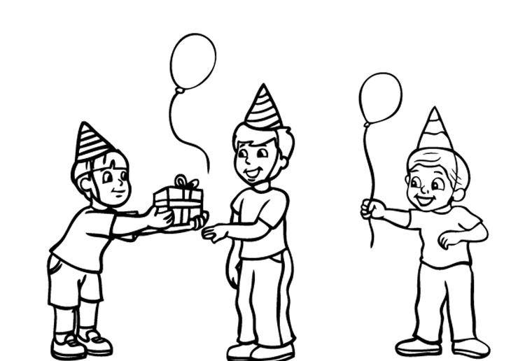 Kids Free Birthday Coloring Pages