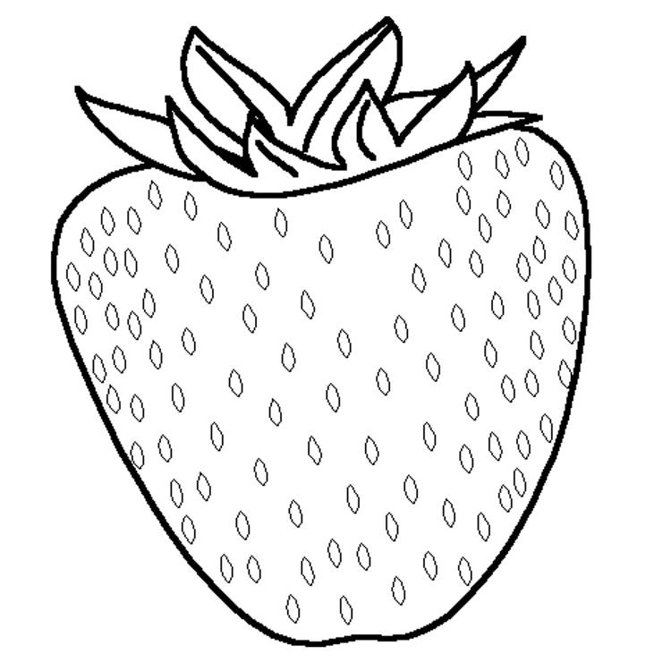 Kids Free Strawberry Fruit Coloring Pages
