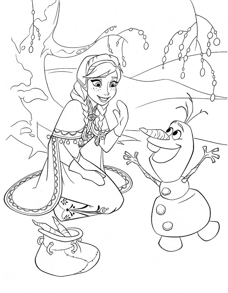 Kids Frozen Printable Coloring Page