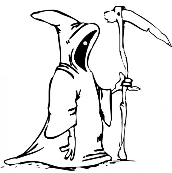 Kids Halloween Grim Reaper Coloring Pages To Print