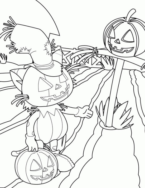 Kids Halloween Pumpkin Coloring Pages Free Print