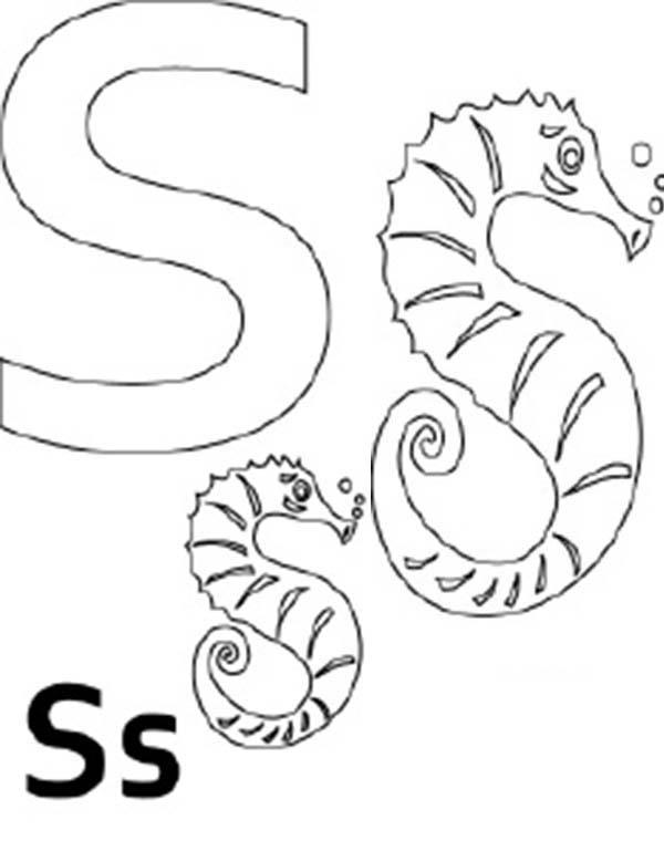 Kids learn letter s coloring page