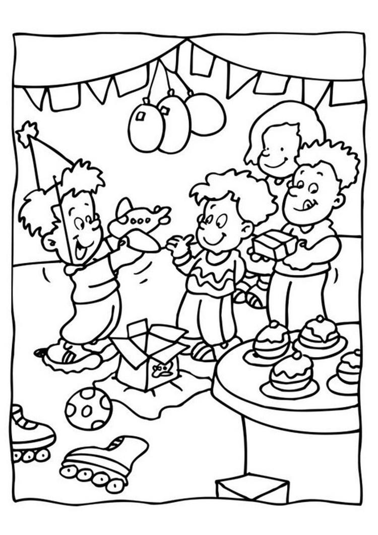 Kids Party Free Birthday Coloring Pages