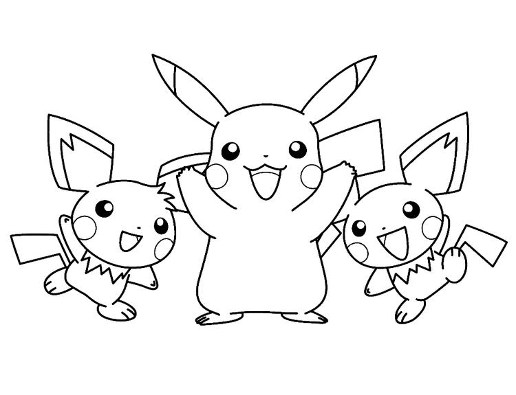 Kids Pikachu Coloring Pages