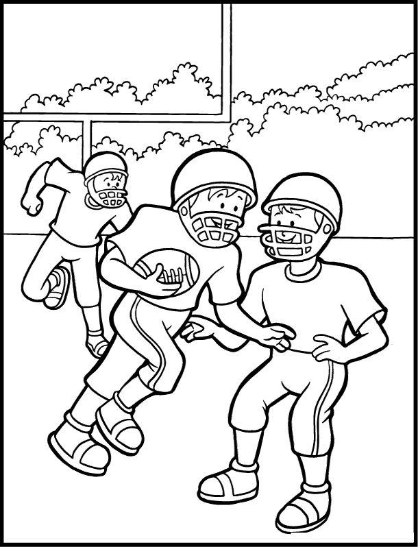 Kids Playing Football Coloring Pages