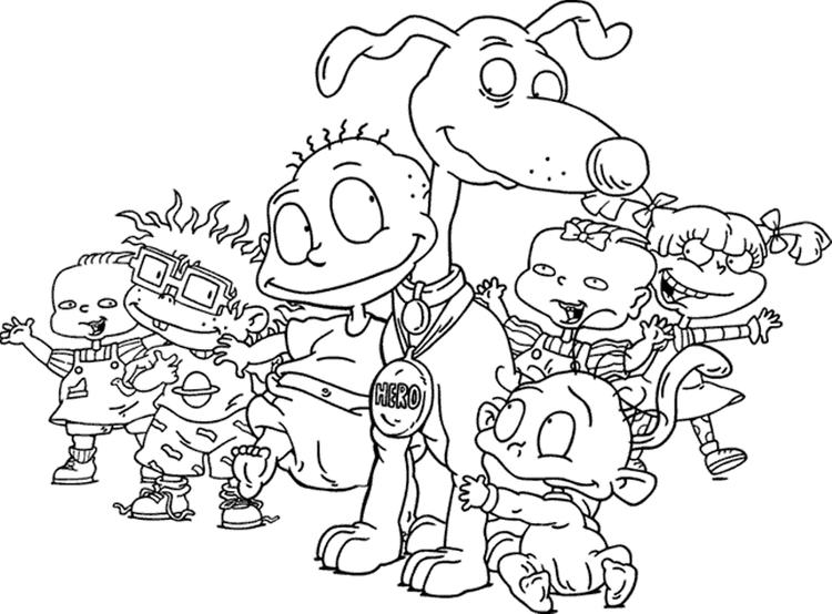 Kids Rugrats Coloring Pages