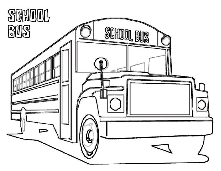 Kids School Bus Coloring Pages