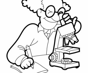 Kids science coloring pages