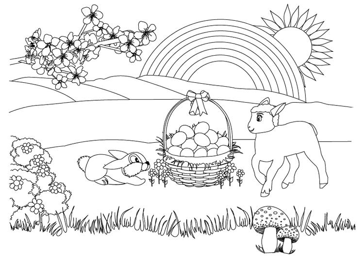 Kids Spring Coloring Page