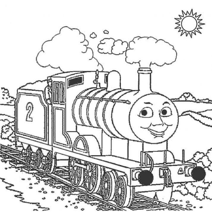 Kids Thomas The Train Coloring Pages For Free