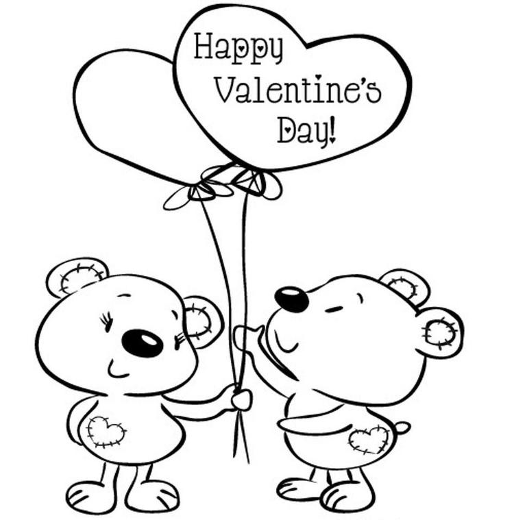 Kids Valentine Coloring Pages - Coloring Ideas