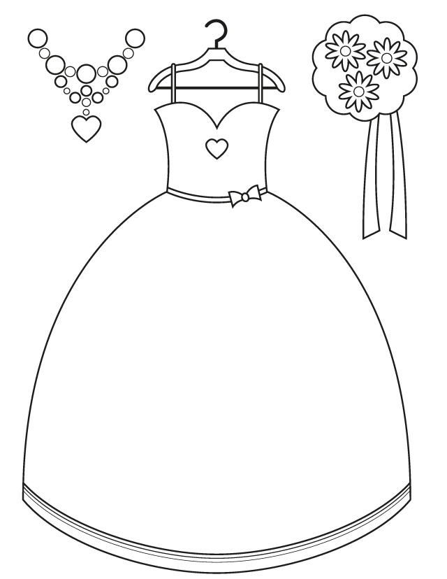 Kids Wedding Dress Coloring Pages