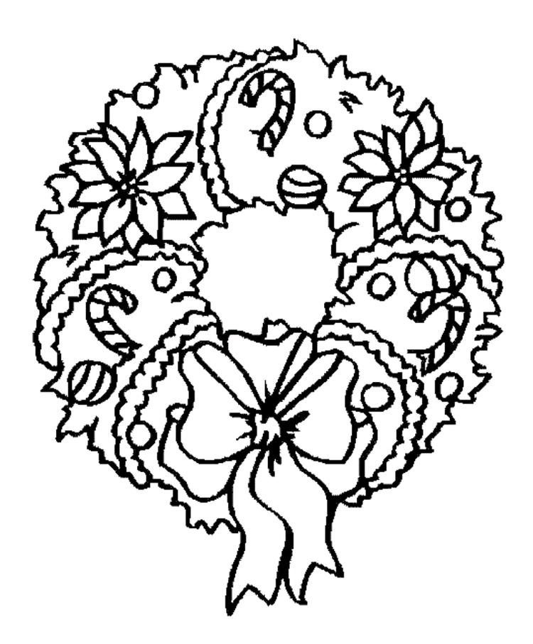 Kids Wreath Free Coloring Pages For Christmas