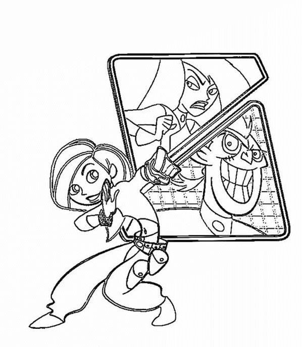 Kim Possible And Her Nemesis Coloring Pages