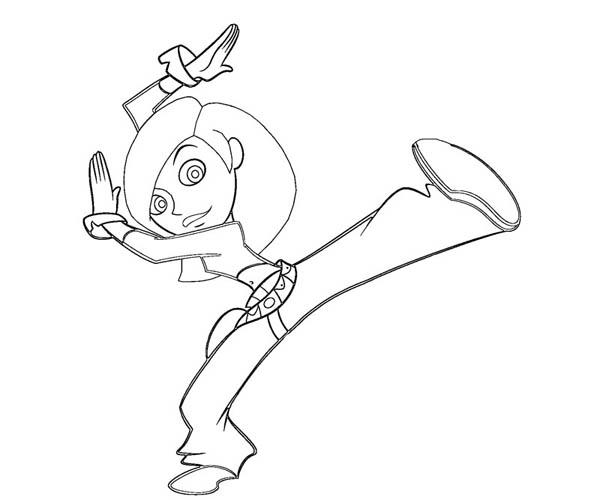 Kim Possible Kung Fu Style Coloring Pages