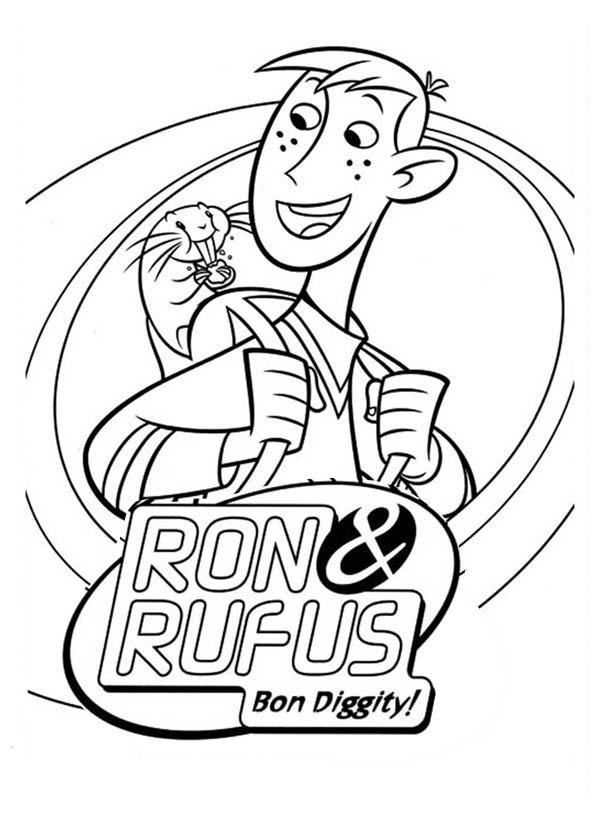 Kim Possible Partner Ron And Rufus Coloring Pages