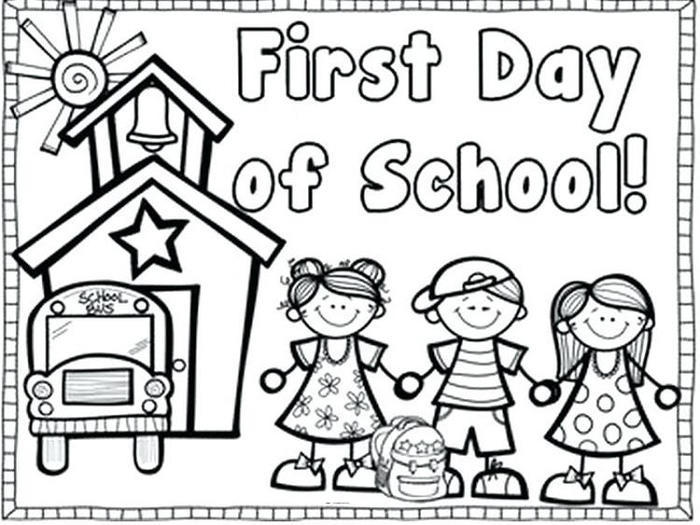 Kindergarten Coloring Pages For First Day Of School