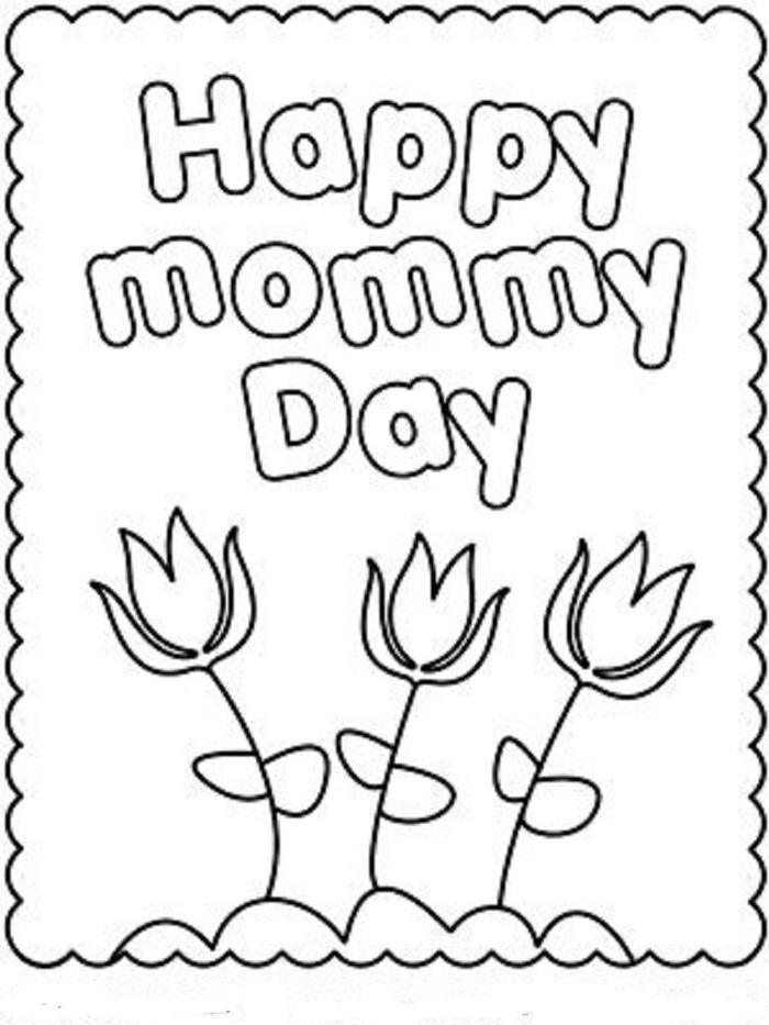 Kindergarten Coloring Pages Mothers Day