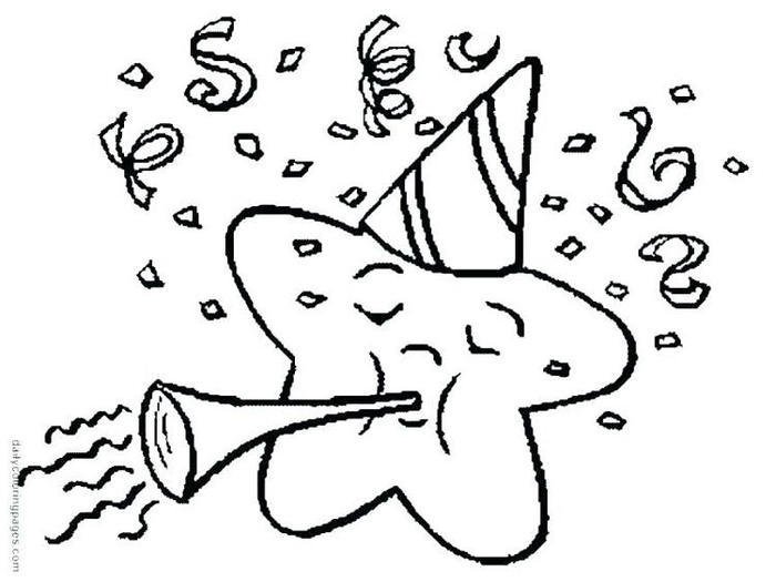 Kindergarten Coloring Pages New Year