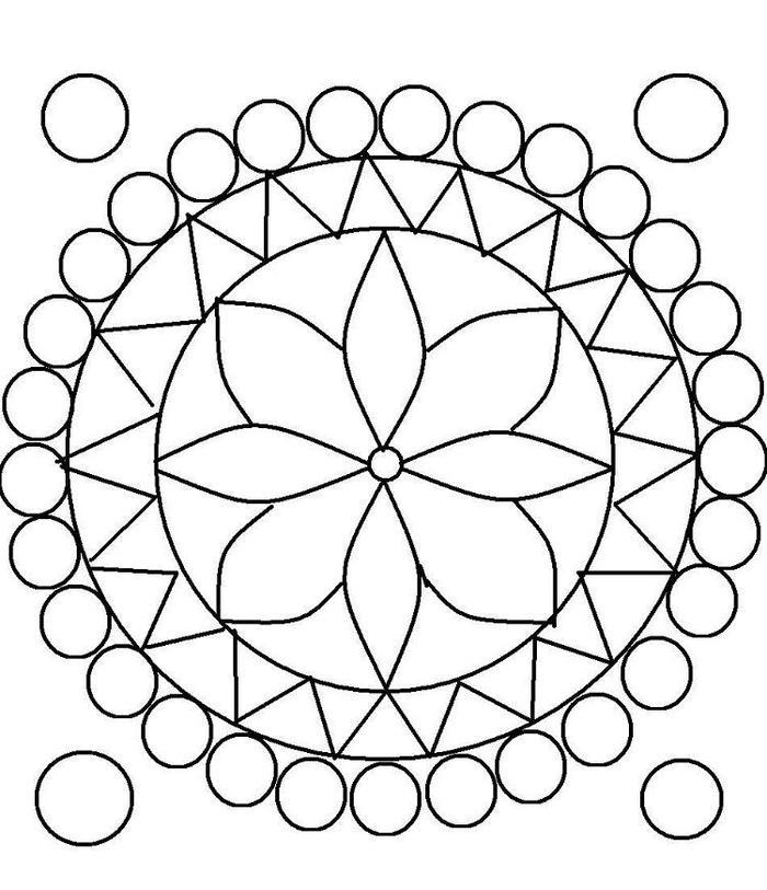 Kindergarten Coloring Pages Pattern