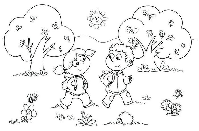 Kindergarten Student Coloring Pages