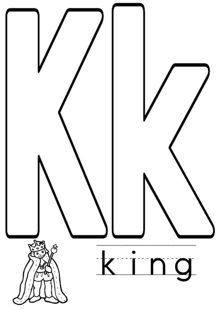 King Alphabet Coloring Pages Free
