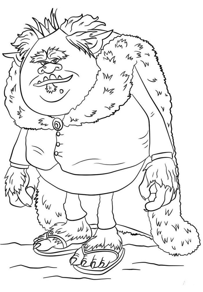 King Gristle From Trolls Coloring Pages
